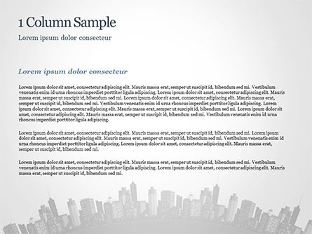 Cityscape Silhouette PowerPoint Template, Slide 4, 15372, Construction — PoweredTemplate.com