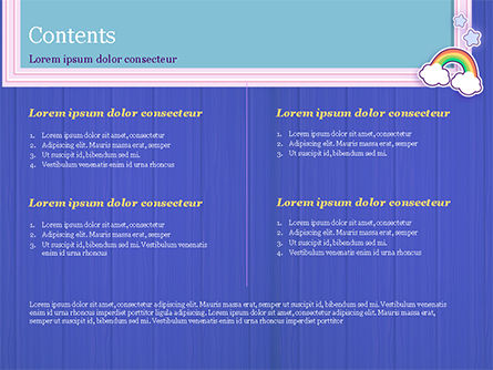 Frame with Rainbow PowerPoint Template, Slide 2, 15373, Holiday/Special Occasion — PoweredTemplate.com