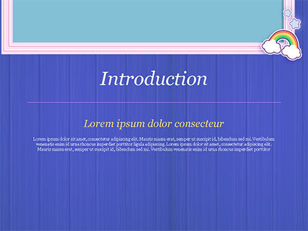 Frame with Rainbow PowerPoint Template, Slide 3, 15373, Holiday/Special Occasion — PoweredTemplate.com