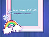 Holiday/Special Occasion: Frame with Rainbow PowerPoint Template #15373