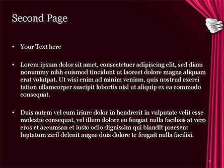 Theater Curtain PowerPoint Template, Slide 2, 15376, Art & Entertainment — PoweredTemplate.com