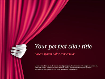 Theater Curtain PowerPoint Template, 15376, Art & Entertainment — PoweredTemplate.com