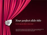 Art & Entertainment: Theatergordijn PowerPoint Template #15376