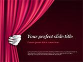 Art & Entertainment: Templat PowerPoint Tirai Teater #15376