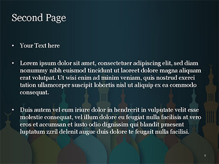 Eid al-Adha Theme PowerPoint Template, Slide 2, 15377, Religious/Spiritual — PoweredTemplate.com