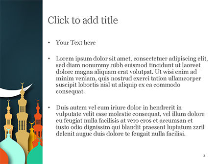 Eid al-Adha Theme PowerPoint Template, Slide 3, 15377, Religious/Spiritual — PoweredTemplate.com