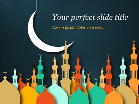 Religious/Spiritual: Eid al-Adha Theme PowerPoint Template #15377