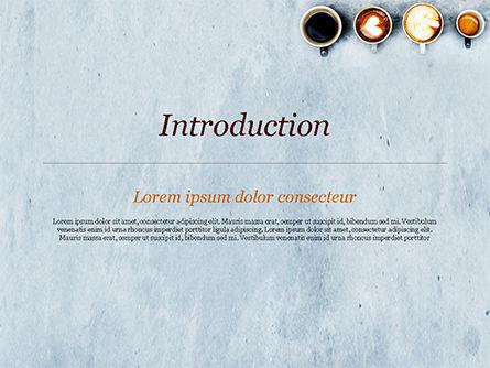 Aerial View of Various Coffee PowerPoint Template, Slide 3, 15380, Food & Beverage — PoweredTemplate.com