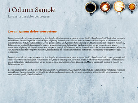 Aerial View of Various Coffee PowerPoint Template, Slide 4, 15380, Food & Beverage — PoweredTemplate.com
