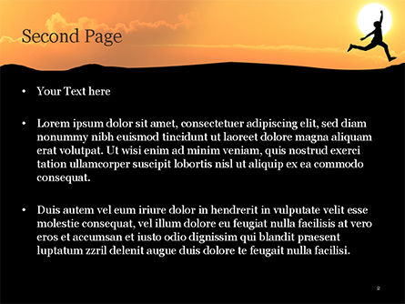 Jump Over Cliff PowerPoint Template, Slide 2, 15381, Business Concepts — PoweredTemplate.com
