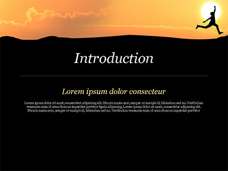 Jump Over Cliff PowerPoint Template, Slide 3, 15381, Business Concepts — PoweredTemplate.com