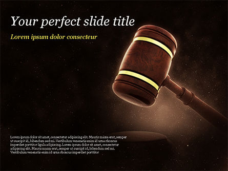 Legal: Judges Gavel PowerPoint Template #15382