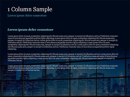 View of a Night Town PowerPoint Template, Slide 4, 15383, Construction — PoweredTemplate.com