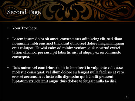 Luxury Vintage Background PowerPoint Template, Slide 2, 15385, Abstract/Textures — PoweredTemplate.com