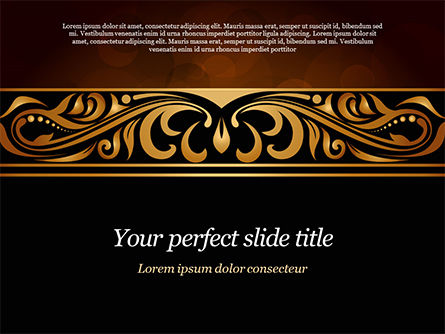 Abstract/Textures: Luxury Vintage Background PowerPoint Template #15385