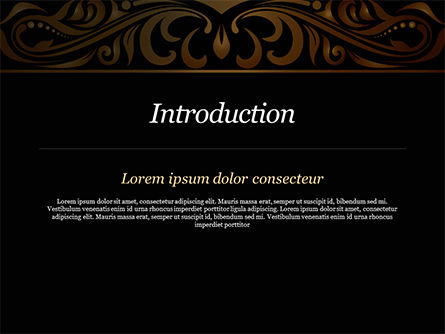 Luxury Vintage Background PowerPoint Template, Slide 3, 15385, Abstract/Textures — PoweredTemplate.com