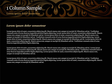 Luxury Vintage Background PowerPoint Template, Slide 4, 15385, Abstract/Textures — PoweredTemplate.com