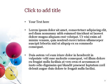 Bunch of Balloons PowerPoint Template, Slide 3, 15386, Holiday/Special Occasion — PoweredTemplate.com