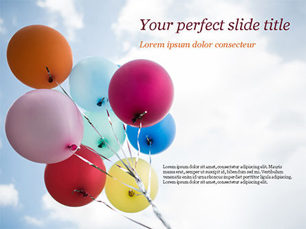 Holiday/Special Occasion: Bunch of Balloons PowerPoint Template #15386