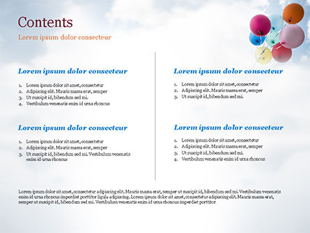 Bunch of Balloons PowerPoint Template, Slide 2, 15386, Holiday/Special Occasion — PoweredTemplate.com