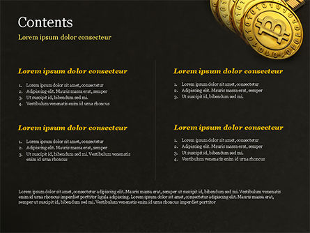 Bitcoins on Circuit Board PowerPoint Template, Slide 2, 15387, Technology and Science — PoweredTemplate.com