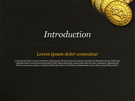 Bitcoins on Circuit Board PowerPoint Template, Slide 3, 15387, Technology and Science — PoweredTemplate.com