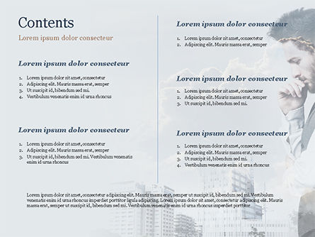 Young Businessman and City PowerPoint Template, Slide 2, 15389, People — PoweredTemplate.com