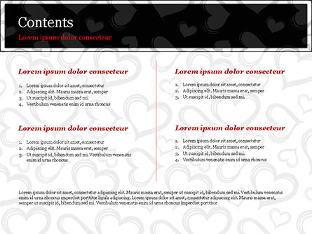 Black Hearts PowerPoint Template, Slide 2, 15390, Holiday/Special Occasion — PoweredTemplate.com
