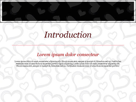 Black Hearts PowerPoint Template, Slide 3, 15390, Holiday/Special Occasion — PoweredTemplate.com