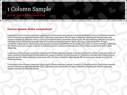 Black Hearts PowerPoint Template, Slide 4, 15390, Holiday/Special Occasion — PoweredTemplate.com