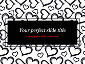 Holiday/Special Occasion: Black Hearts PowerPoint Template #15390