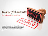 Business Concepts: Banned Stamp PowerPoint Template #15394