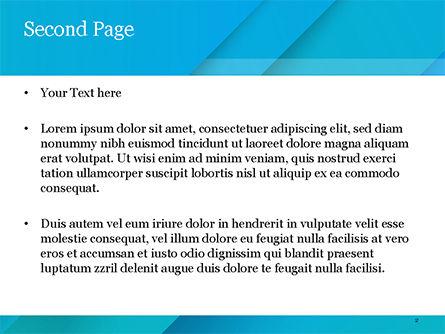 Azure Abstraction PowerPoint Template, Slide 2, 15395, Abstract/Textures — PoweredTemplate.com