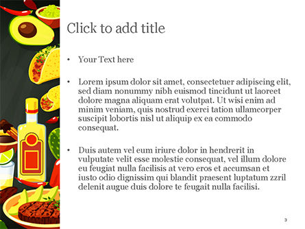 Mexican Food PowerPoint Template, Slide 3, 15396, Food & Beverage — PoweredTemplate.com