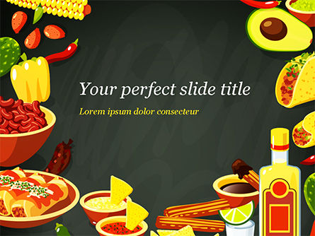 Mexican Food PowerPoint Template, 15396, Food & Beverage — PoweredTemplate.com