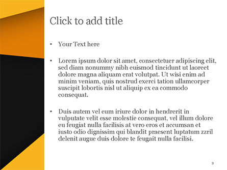 Black and Yellow Abstraction PowerPoint Template, Slide 3, 15402, Abstract/Textures — PoweredTemplate.com