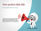 Careers/Industry: Man with Megaphone PowerPoint Template #15407