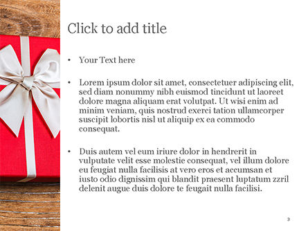 Open Red Gift Box PowerPoint Template, Slide 3, 15410, Holiday/Special Occasion — PoweredTemplate.com