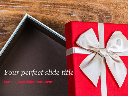 Holiday/Special Occasion: Open Red Gift Box PowerPoint Template #15410