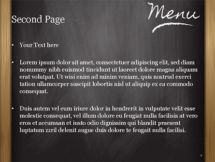 Menu Blackboard PowerPoint Template, Slide 2, 15411, Careers/Industry — PoweredTemplate.com