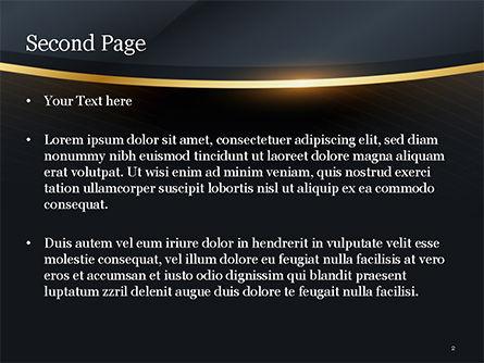 Golden Frame PowerPoint Template, Slide 2, 15413, Abstract/Textures — PoweredTemplate.com