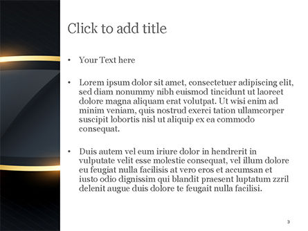 Golden Frame PowerPoint Template, Slide 3, 15413, Abstract/Textures — PoweredTemplate.com