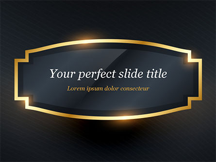 Abstract/Textures: Golden Frame PowerPoint Template #15413