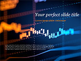 Financial/Accounting: Candlestick Chart on Blue Background PowerPoint Template #15420