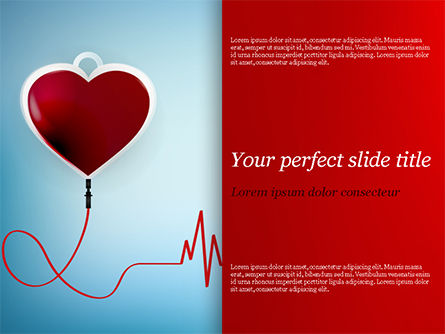 Medical: Blood Donation Concept PowerPoint Template #15422