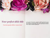 Holiday/Special Occasion: Modelo do PowerPoint - bloco de notas decorado com flores #15424