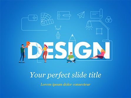 Careers/Industry: Design PowerPoint Template #15426
