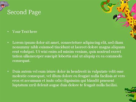 Funny Animals PowerPoint Template, Slide 2, 15427, Education & Training — PoweredTemplate.com