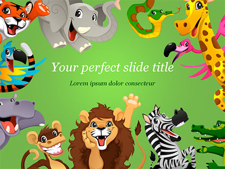Education & Training: Funny Animals PowerPoint Template #15427