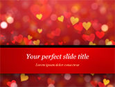 Holiday/Special Occasion: Heart Shaped Red and Yellow Lights PowerPoint Template #15428